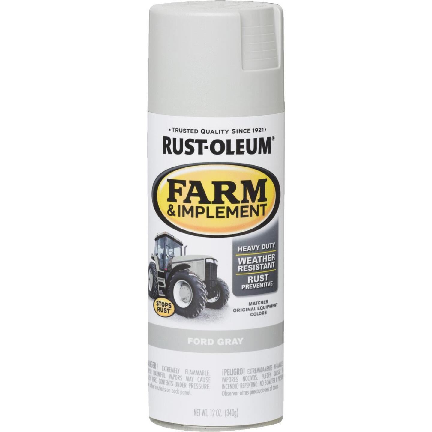 Rust-Oleum 12 Oz. Ford Gray Farm & Implement Spray Paint Image 1