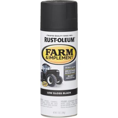 Rust-Oleum 12 Oz. Low Gloss Black Farm & Implement Spray Paint