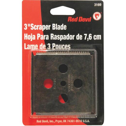 Red Devil 3 In. 4-Edge Replacement Scraper Blade