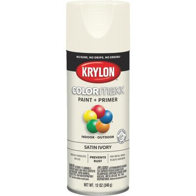 Krylon ColorMaxx 12 Oz. Satin Spray Paint, Ivory