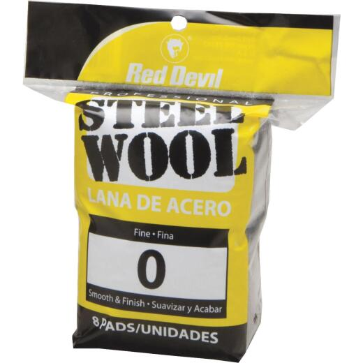 Red Devil #0 Steel Wool (8 Pack)
