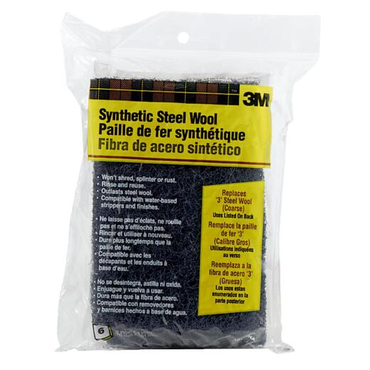 3M #3 Synthetic Steel Wool (6 Pack)