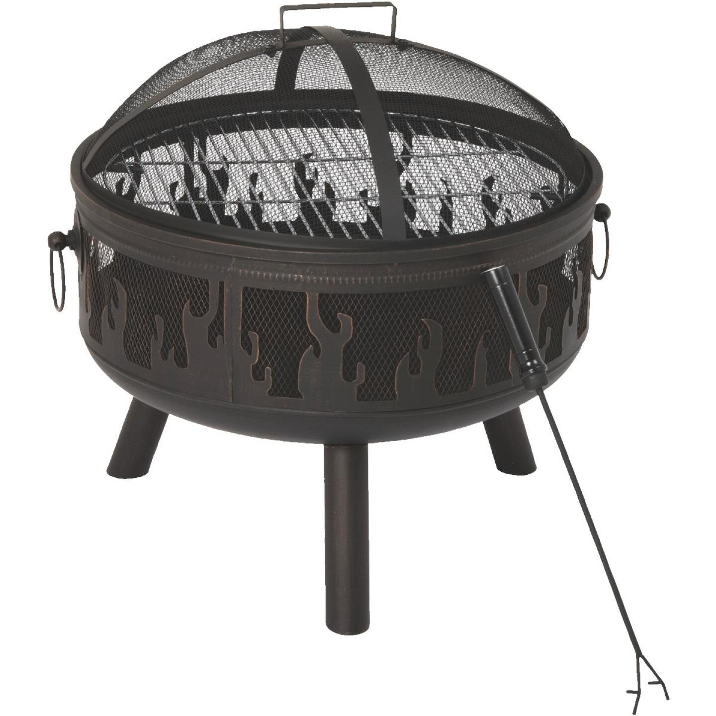 Outdoor Expressions 24 In. Antique Bronze Round Steel Fire Pit Image 1