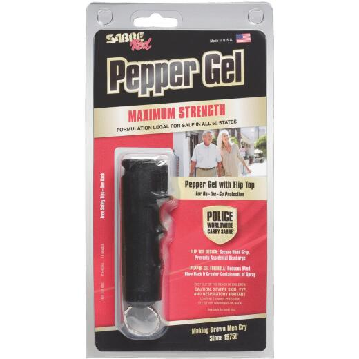 Sabre Red 0.54 oz Black Flip Top Self-Defense Pepper Gel