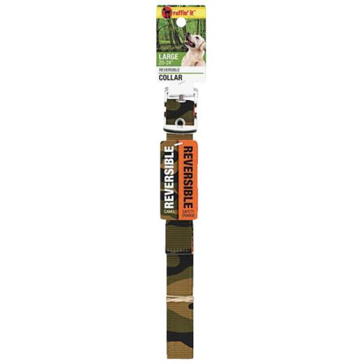 Westminster Pet Ruffin' it Reversible 20 In. to 24 In. Nylon Dog Collar