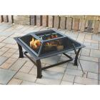 Outdoor Expressions 30 In. Antique Bronze Square Steel Fire Pit Image 2