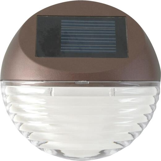 Moonrays 4 in. Bronze LED Solar Deck Light