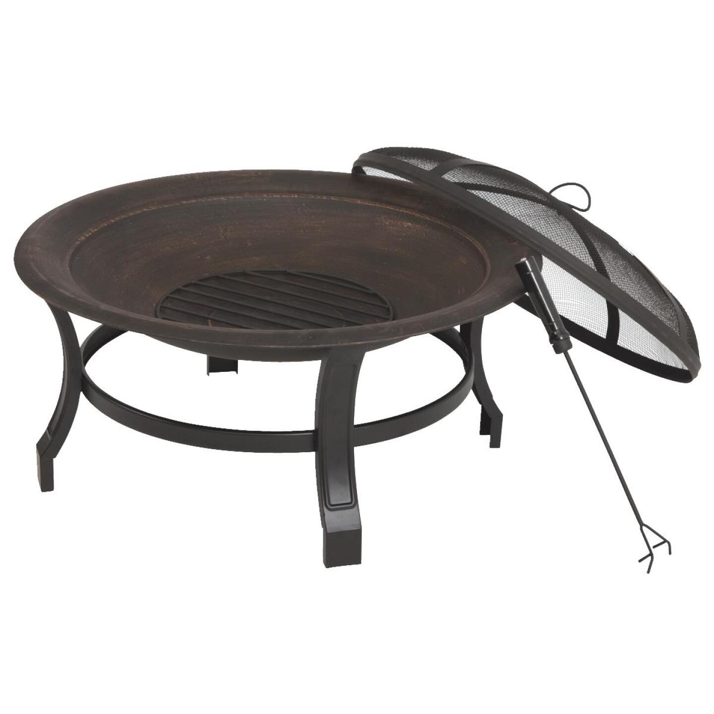 Outdoor Expressions 30 In. Antique Bronze Round Steel Fire Pit Image 2