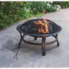 Outdoor Expressions 30 In. Antique Bronze Round Steel Fire Pit Image 4