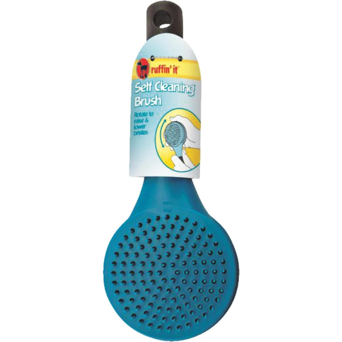 Westminster Pet Ruffin' it Plastic Self-Cleaning Pet Brush Image 1
