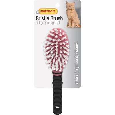 Westminster Pet Ruffin' it Plastic Bristle Cat Grooming Brush