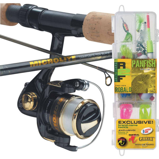 SouthBend Ready 2 Fish Panfish 5 Ft. Fiberglass Fishing Rod & Spinning Reel Combo
