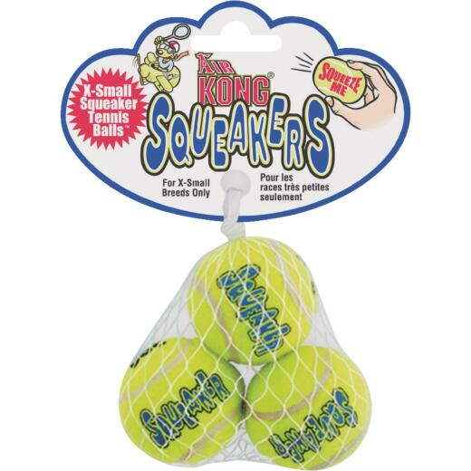 Air Kong Squeaky Extra Small Ball for Toy Breeds Only (3-Pack)