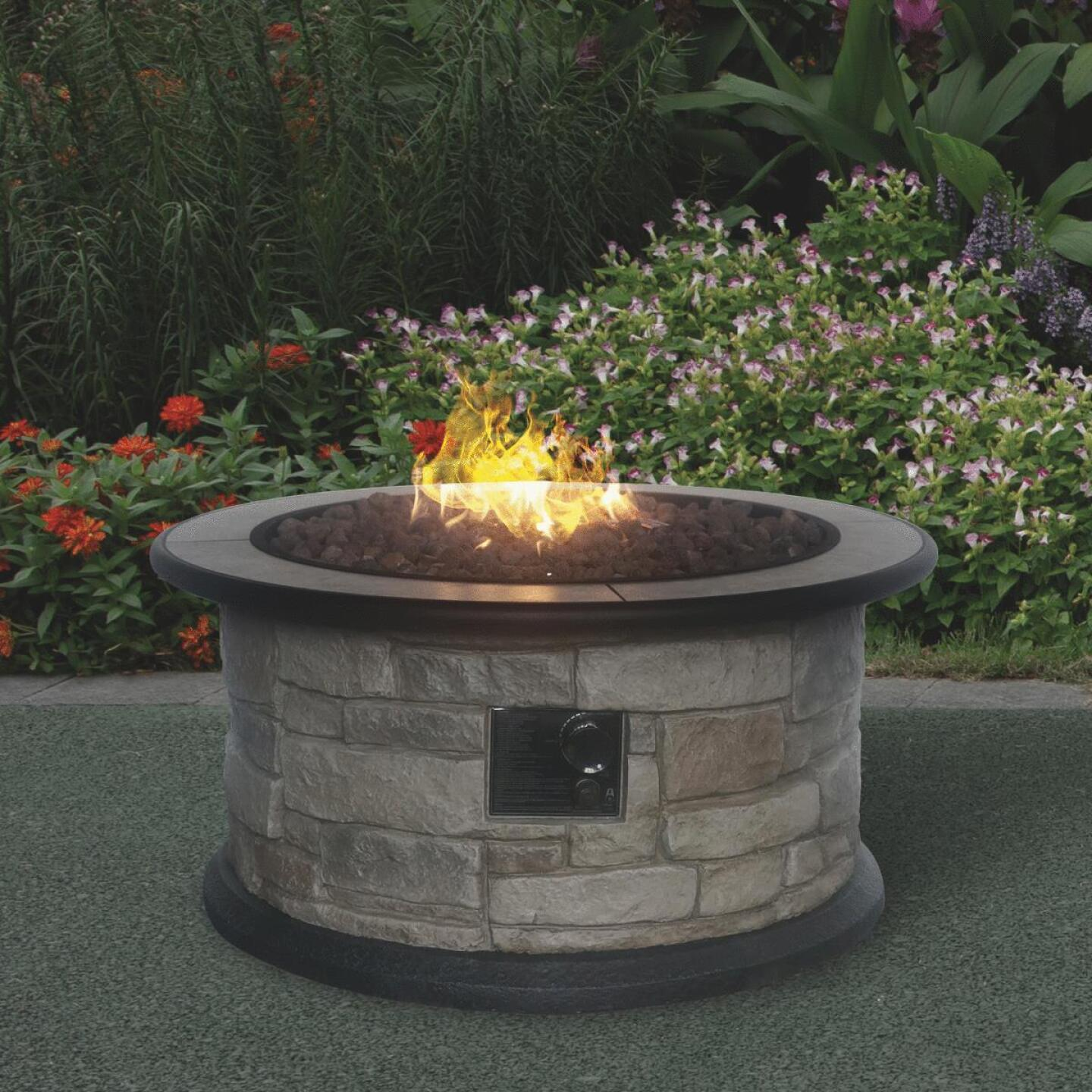 Bond Wellsville 36 In. Round Steel Gas Fire Pit Image 2