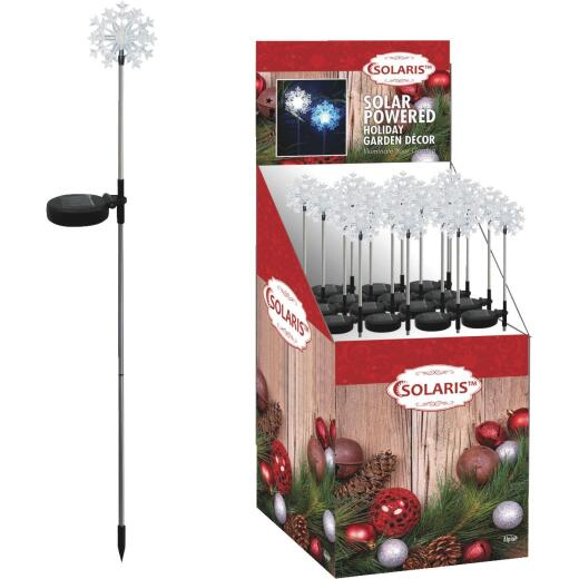 Solaris 33 In. LED Solar Snowflake Holiday Garden Stake