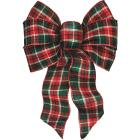Holiday Trims 7-Loop 8-1/2 In. W. x 14 In. L. Assorted Plaid Fabric Christmas Bow Image 2