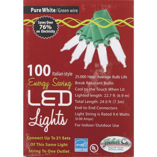 J Hofert Clear 100-Bulb Italian Style LED Light Set