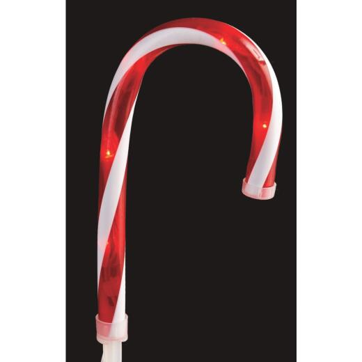 J Hofert Everglow 10 In. Candy Cane Incandescent Path Light Set (10 per set)