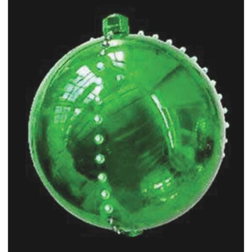 J Hofert 4 In. LED Lighted Green Falling Snowball