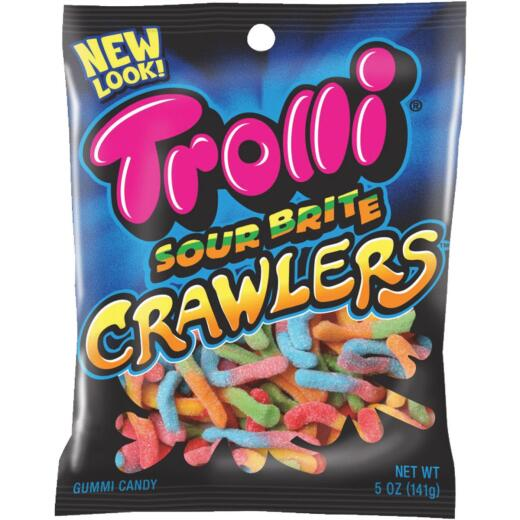 Trolli Sour Brite Crawlers Assorted Sour Fruit Flavors 5 Oz. Gummi Worms