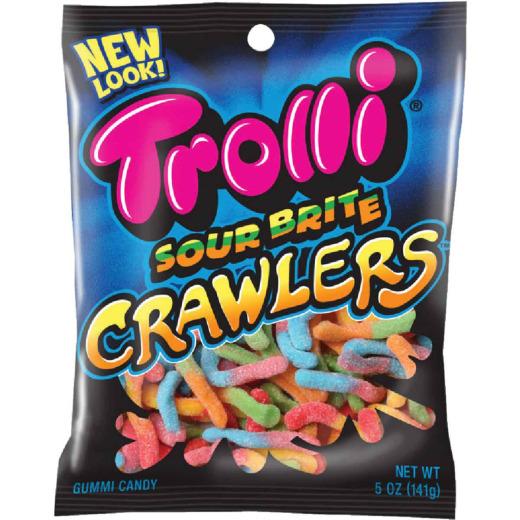 Trolli Sour Brite Crawlers Assorted Sour Fruit Flavors 5 Oz. Gummi Worms