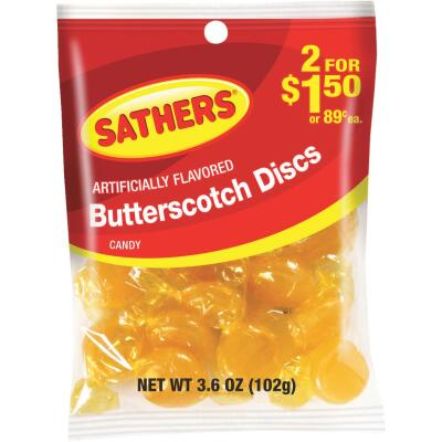 Sathers 3.6 Oz. Butterscotch Discs