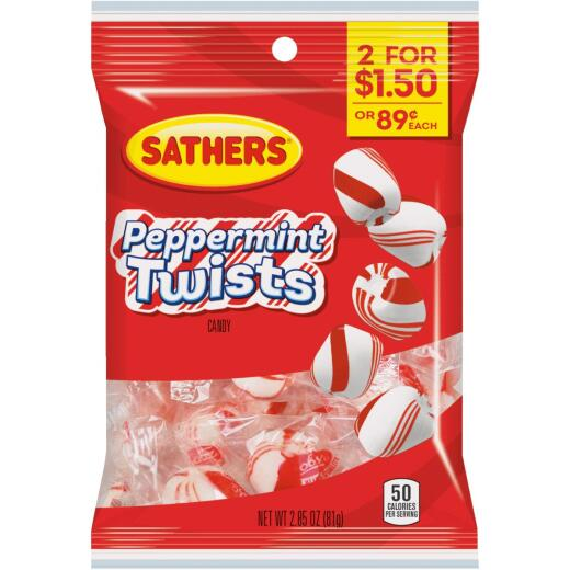 Sathers 2.85 Oz. Peppermint Twists