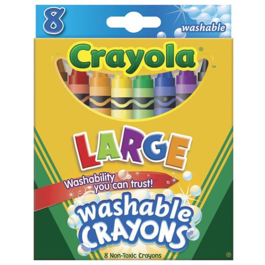 Crayola Large Washable Crayons (8-Pack)