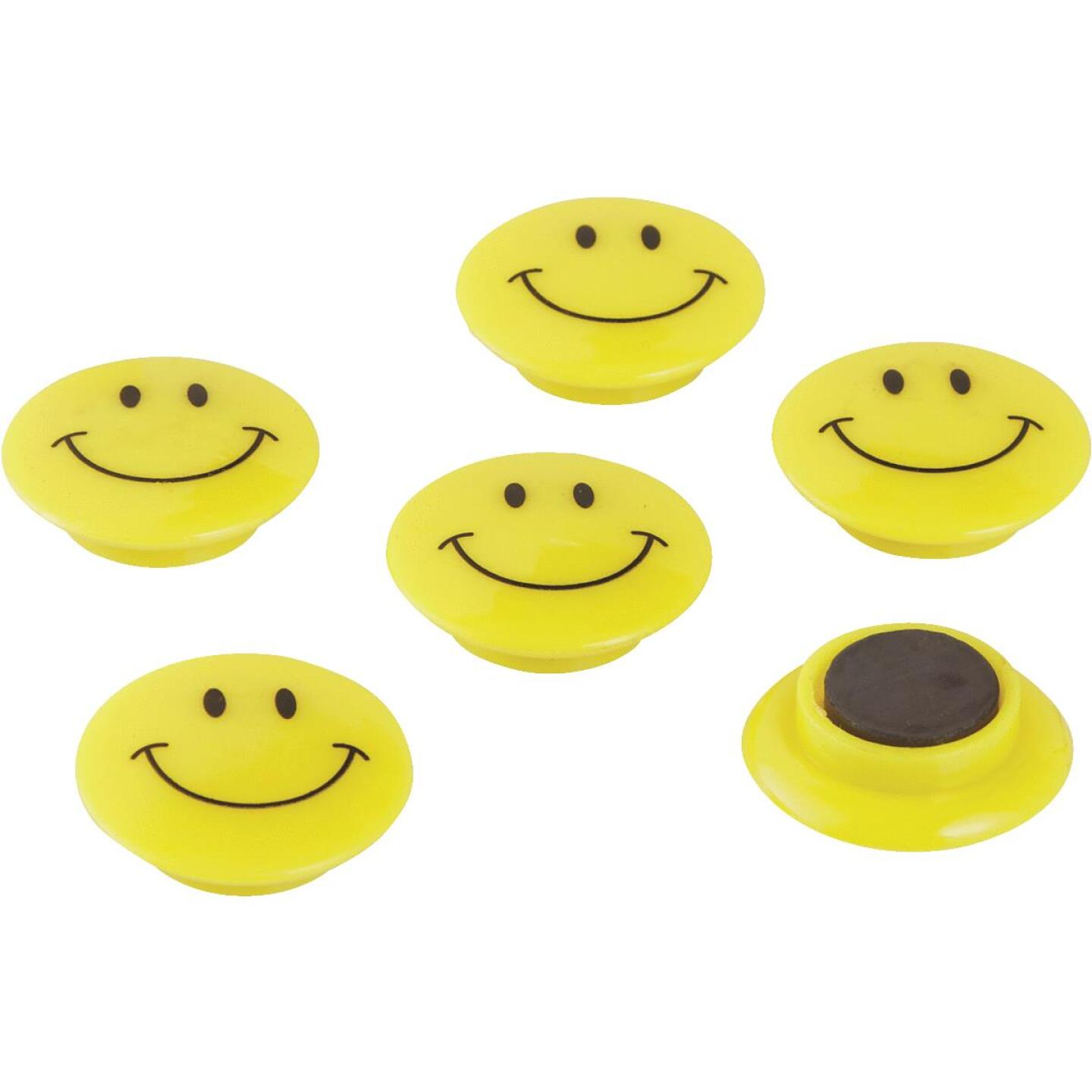 Smart Savers 1.18 In. Dia. Yellow Magnets (6-Pack) Image 3