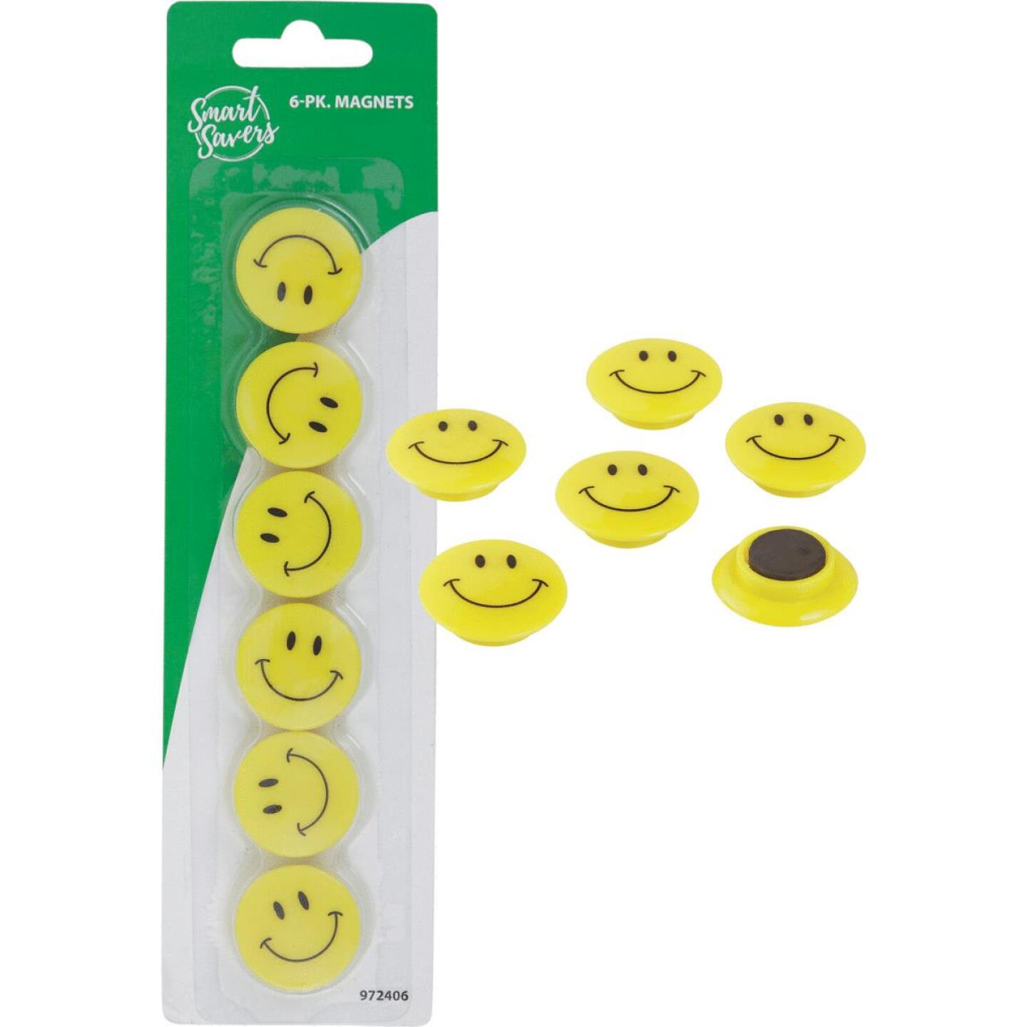 Smart Savers 1.18 In. Dia. Yellow Magnets (6-Pack) Image 1