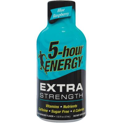 5 Hour Energy 1.93 Oz. Extra-Strength Blue Raspberry Flavor Energy Drink