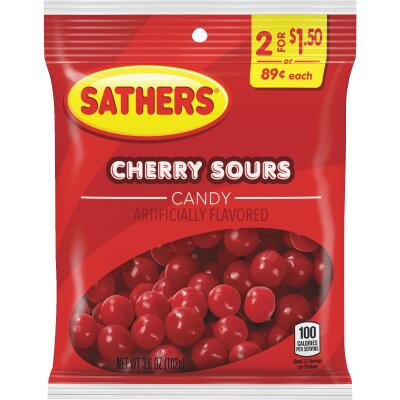 Sathers 3.1 Oz. Cherry Sours