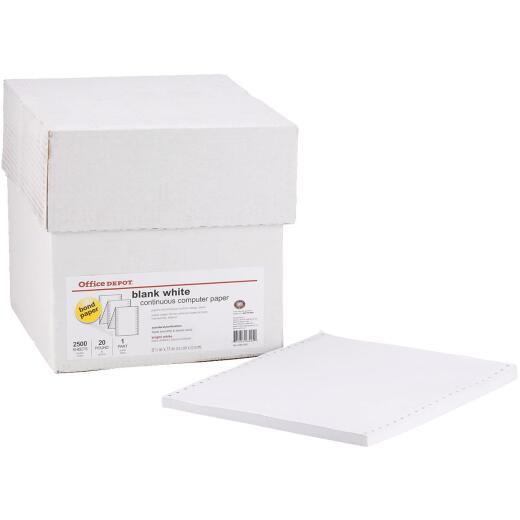 Staples 8-1/2 In. x 11 In. 20 Lb. White Blank Computer Printer Paper, 2500 Sheets